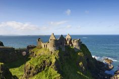To visit Dunluce Castle is to see the ocean plunge dramatically beneath this spectacular medieval ruin.
