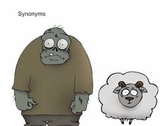 Grog and Sheep EXPLAIN synonyms Yes! I just did a synonym comprehension lesson with my fourth grade group...they will get a kick out of this!
