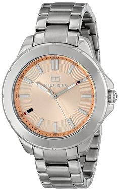 Tommy Hilfiger Women's 1781415 Analog Display Quartz Silver Watch -- Check out the watch by visiting the link. Tommy Hilfiger Watches, Tommy Hilfiger Women, Chronograph, Hair Accessories, Quartz, Jewelries, Clocks, Image Link, Display