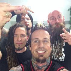 Zoltan Bathory Jason Hook 12 X 18 inch poster Moody Chris Kael Get Motivation Five Finger Death Punch 5FDP heavy metal band Ivan L