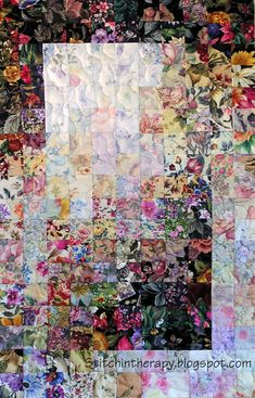 Stitchin' Therapy: Awakening I Patchwork Quilt Patterns, Crazy Patchwork, Fox Quilt, Watercolor Quilt, Family Tree Art, Postage Stamp Quilt, Chintz Fabric, Bargello Quilts, Miniature Quilts