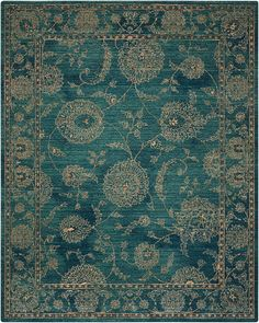 NOURISON 2020 NR202 TEAL - NOURISON 2020 - Area Rugs - Products