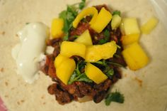 Tracey's Black Bean Burritos - Recipe: Black Bean Burritos  How long does it take? 1 hour  Category: Vegetarian  Name: Tracey  Why is it a favorite meal? It's so simple and delicious. I usually double the recipe so we have leftovers.