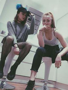 Favorite Female Duos - Maisie Williams + Sophie Turner | allure.com