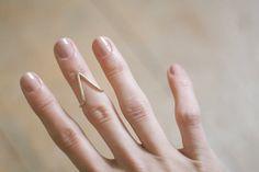 the mountain upper finger ring // bronze. $28.00, via Etsy.