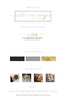 Gold foil logo | Gold logo package | Branding package | Premade logo | logo design
