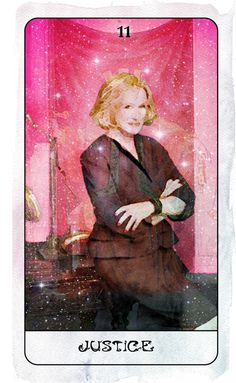 XI. Justice (Glenn Close) - Heart of Stars Tarot by Thom Pham