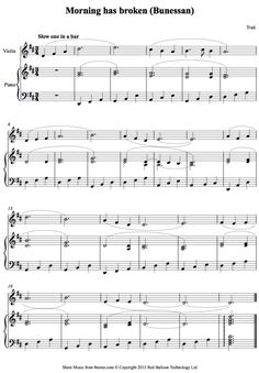 Morning has Broken (Bunessan) sheet music for Violin