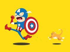 Captain America is scared of cats by Chris Fernandez  Video chat about it at https://createamixer.com/