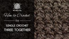 How to Crochet the Single Crochet 3 Together Pattern  •★•Teresa Restegui http://www.pinterest.com/teretegui/•★•