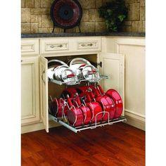 Rev-A-Shelf 5CW2-2122 Pull Out Organizers 5CW2 Base Cabinet Organizers Cookware Organizers ;Chrome - Walmart.com