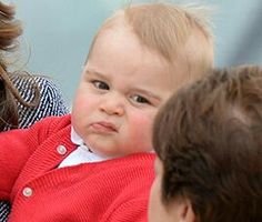 Prince George looks as though he is done meeting people for the day, lolol