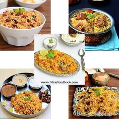 Veg Biryani recipes- A collection of 40+ different types of Veg biryani recipes like Hyderabad Veg biryani,Dum biryani recipes,Easy vegetable biryani, Kerala Malabar biryani,Ambur,thalappakatti and much more biryani recipes with step by step pictures.