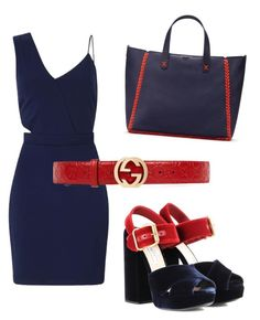 """""""Untitled #30"""" by annamets ❤ liked on Polyvore featuring Miss Selfridge, Prada, Tory Burch and Gucci"""