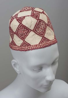 485c5ae12c1 Cap Egyptian Late 19th century Red Silk