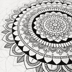 Little one in progress #wip #mandala #mandalaart #pen #doodling #bw #lineart #iblackwork #drawing #symmetry #symmetrical #artwork #unipin #unipinfineline