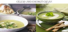 Thai Celery and coconut cream soup
