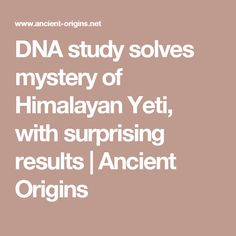 DNA study solves mystery of Himalayan Yeti, with surprising results | Ancient Origins