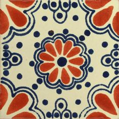 Our patterned decorative Traditional Talavera Tile is a hand-made and hand-painted rustic tile carefully created by craftsman families in Mexico. Traditional Ta