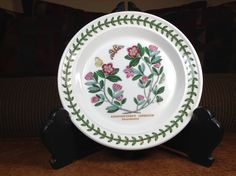 """Portmeirion Botanic Garden Artist Susan Ellis-Williams Rhododendron Pattern Bread and Butter Plate 7-1/4"""" 1 Only by AlbertsonMiller on Etsy"""