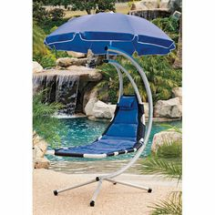 """Traditional hammock netting doesn't offer much in the way of support. But this hammock, with its solid bed of breathable fabric, supports you without that """"sinking in"""" feeling. Suspended in air, it gently sways to and fro to make relaxing even more enjoyable! Floating Hammock - #SkyMall"""