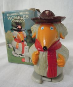 Vintage Retro 1974 Marx Toys Wind Up Womble Orinoco In Original Box