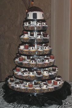 Afro-wedding cake