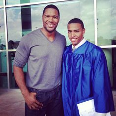 MICHAEL STRAHAN JR. GRADUATES - Black Celebrity Kids