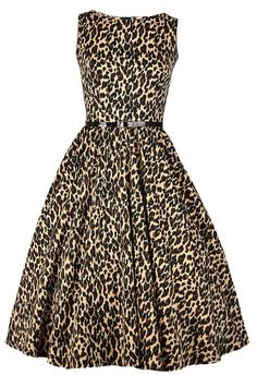 Leopard Print Hepburn Dress