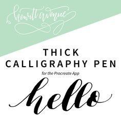 An essential brush for iPad lettering. It has a very large variation in thickness with change in pressure and mimics favorite calligraphy nibs and pens. Included: Zip file with Procreate brush and a P