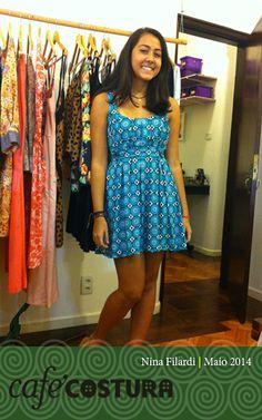 Nina Fildardi e seu vestidinho complicado.... mas que valeu a pena!!