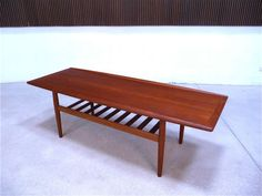 GRETCHEN JALK teak coffee table COFFEE TABLE basse teck années 60 GLOSTRUP | 60s 60s | eBay