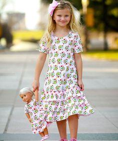 Pink Strawberries Nina Dress & Doll Dress - Girls
