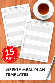 Printable Week meal planner in original style to help you plan a weekly menu. Choose Sunday/Monday week start and Letter, Half Letter paper size. Sections available in this template: Week of 7 daily boxes for Breakfast, Lunch, Dinner & Snacks Weekly Meal Plan Template, Meal Planner Template, Weekly Planner Printable, Planner Sheets, Planner Pages, Planner Layout, Planner Inserts, Planner Ideas, Passion Planner