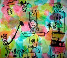 Mi Sala Amarilla: Pintando con goteros