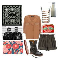 """""""Untitled"""" by littleseahorse ❤ liked on Polyvore featuring Pare Gabia, Yuki, Organic by John Patrick, Chris Habana, Mason Pearson, comb, tomboy, greasers, shirt and boots"""