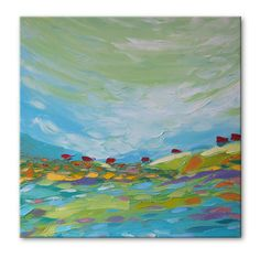 Blue Valley Free Shipping Original Oil Painting On By Solomoon, $238.00