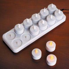 Rechargeable Tea Light Candles %u2013 $24