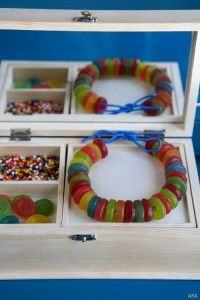 maybe a make your own candy bracelet craft with lifesavers?  Wouldn't have enough to do all year, but perhaps for a month?