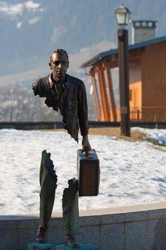 "Bruno CATALANO - Sculpture ""les voyageurs"""