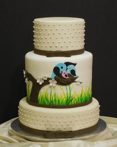 Nature themed baby shower cake (based on another artist's design)