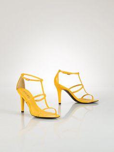 Aida Snakeskin Sandal - Lauren Shoes  Shoes - RalphLauren.com