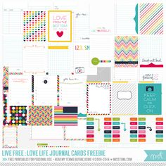 Live Free : Love Life » 73 FREE Printable Journal Cards | MissTiina.com {Blog}