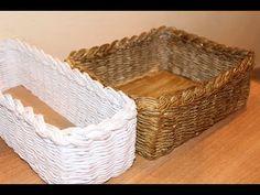 How to Make a Basket from Newspaper tutorial Návod na pletené z papíru Cestería con periódicos weaving newspapers Chest periódicos de tejido del pecho tkaní ...