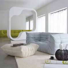 Contemporary sofa / polyester TOGO by Michel Ducaroy Ligne Roset Contracts