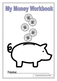 Hands on Money activity. Each piggy bank contains coins