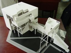 90 degrees studio added a new photo. Richard Meier, Small Buildings, Amazing Buildings, Box Design, Design Model, Michael Graves, Arch Model, 3d Architecture, Home Additions