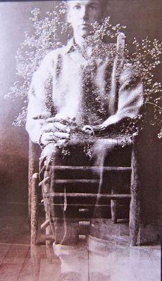Robert Rauschenberg, Self-portrait with weed, 1952