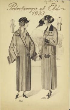 Printemps et eté, 1923. Metropolitan Museum of Art (New York, N.Y.). Thomas J. Watson Library. Swiss Coats and Suits Trade Catalogs. #spring # friends. |  Enjoying the spring weather with a friend