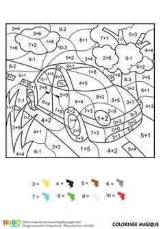 Home Decorating Style 2020 for Coloriage Magique Addition you can see Coloriage Magique Addition and more pictures for Home Interior Designing 2020 at Coloriage Kids. Math Coloring Worksheets, Addition Worksheets, Kindergarten Math Worksheets, Preschool Learning Activities, Worksheets For Kids, Kids Learning, Math Pages, Homeschool Math, First Grade Math